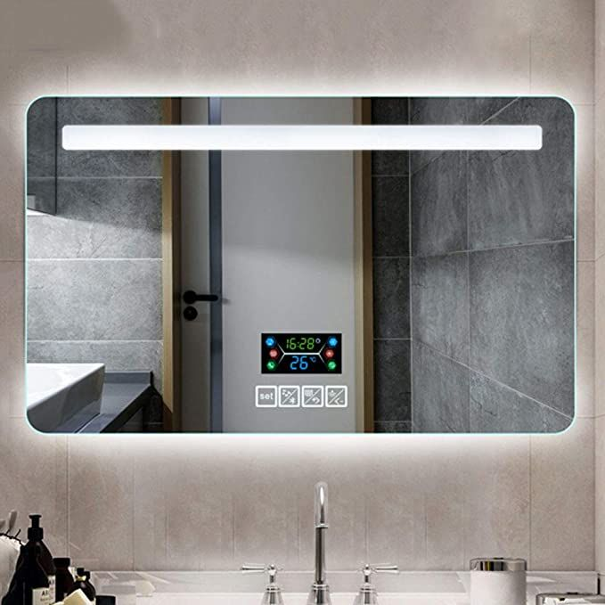 Led Mirror Wall Mounted Bathroom, Bathroom Mirror With Led Lights And Bluetooth