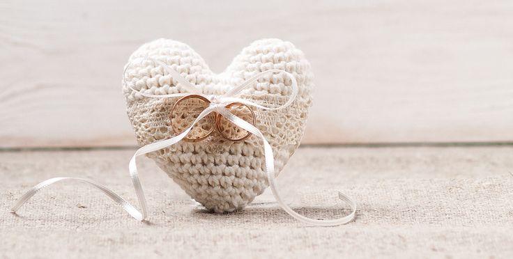 Wedding Ring Pillow Ring Bearer Pillow Engagement Ring Holder Heart Bearer Crochet Ivory Pillow  Cake Topper by InesesWeddingGallery on Etsy https://www.etsy.com/listing/221987591/wedding-ring-pillow-ring-bearer-pillow