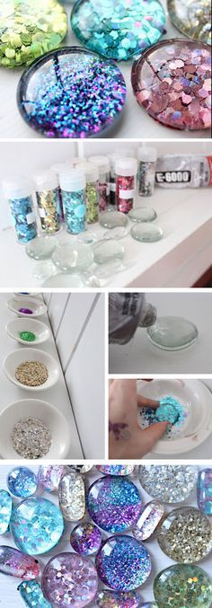 Glitter Magnets | 35   DIY Christmas Gifts for Teen Girls | DIY Dollar Store Crafts for Teens