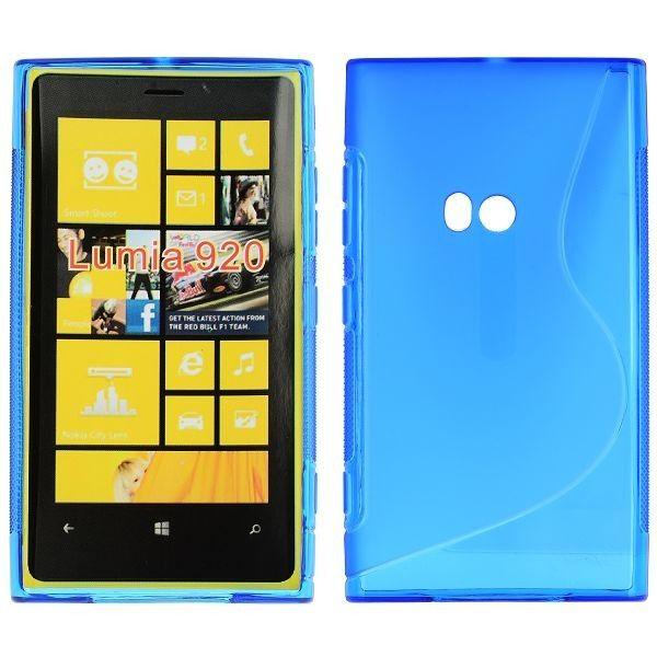 S-Line Läpikuultava (Sininen) Nokia Lumia 920 Suojakuori