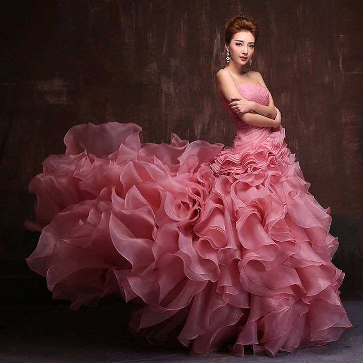 На заказ! длиной до пола суд поезд 60 см свадьба органзы многоуровневое длинные платья выпускного вечера бальное платье мицва платьякупить в магазине C & XнаAliExpress