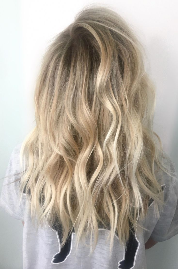 Bright Blonde Babylights And Balayage Balayageweddinghair