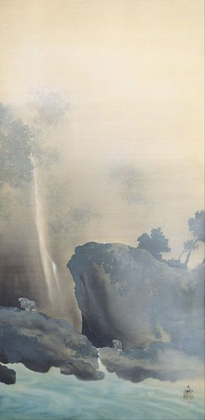 Yokoyama Taikan (1868 - 1958) - 日本語: 曳船 English: Towing a Boat, 1901, Adachi Museum of Art.