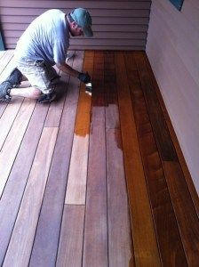 oil finishes on ipe and other HARD wood decks tips