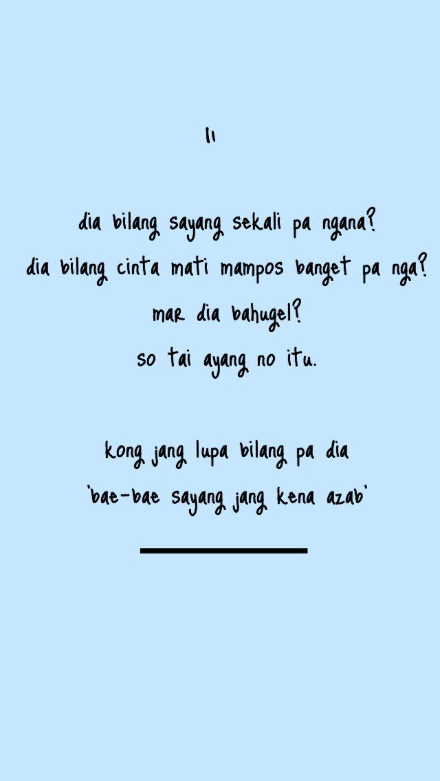 Kata Gombal Manado : gombal, manado, Caption, Romantis, Manado