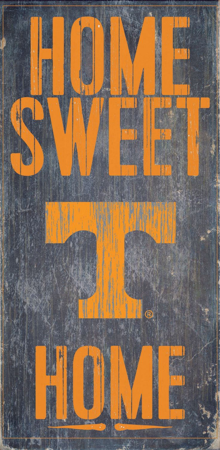 Tennessee Volunteers Wood Sign - Home Sweet Home 6x12