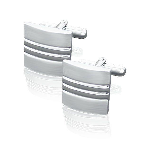 Zilveren manchetknoop