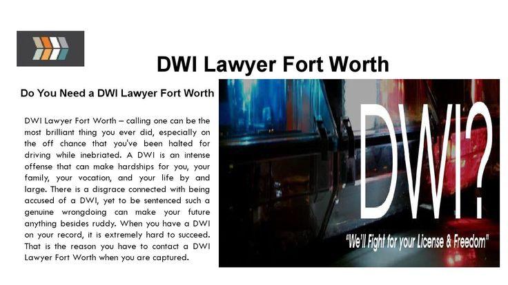 Dwi lawyer fort worth
