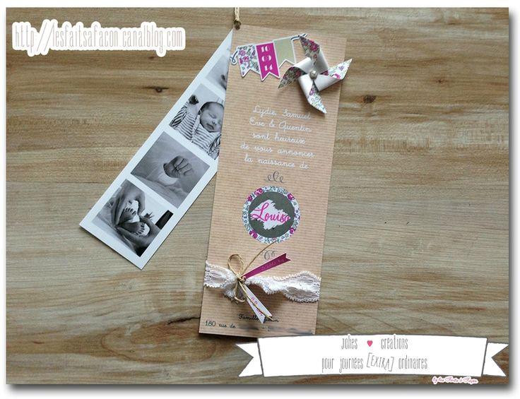 137 best images about jolis faire parts de naissance on. Black Bedroom Furniture Sets. Home Design Ideas