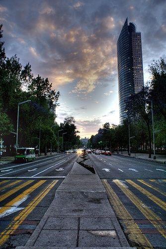 Mexico City. Reforma Avenue.