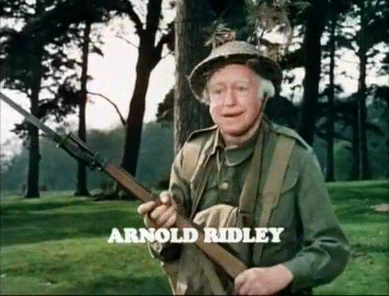 Actor Arnold Ridley in Dad's Army