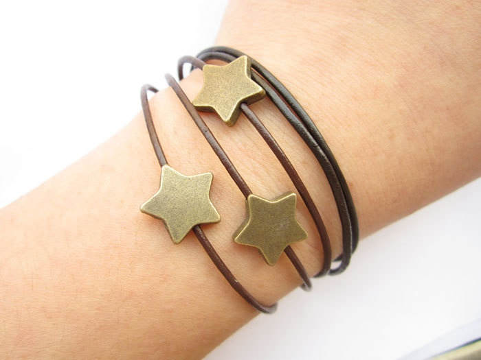 Multilayer leather bracelet by lightenme