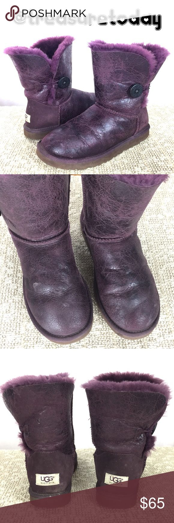 Leather driving gloves gold coast - Purple Ugg Sheepskin Leather Boots Cute Used And Show Some Normal Wear The Right