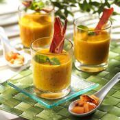 Gaspacho de melon grillé - une recette Barbecue - Cuisine