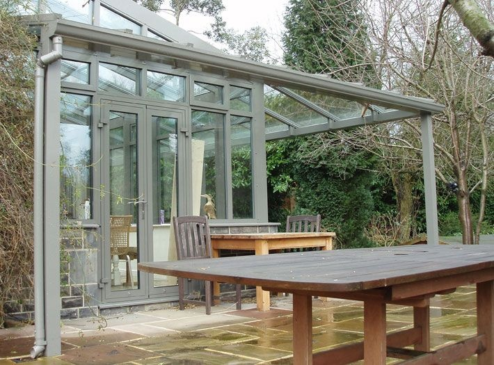 covered glass veranda