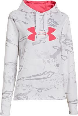 Escape the icy fingers of nature in the Women's Camo Big Logo Hoodie from Under Armour.