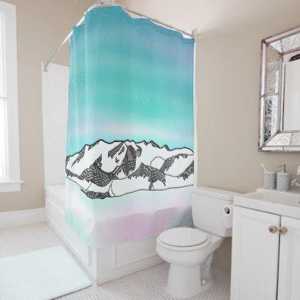 Vinson Massif Shower Curtain - shower curtains home decor custom idea personalize bathroom