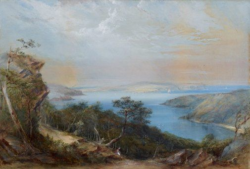 An image of Middle Harbour by Conrad Martens 1876