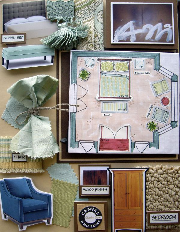 how to create an interior design board