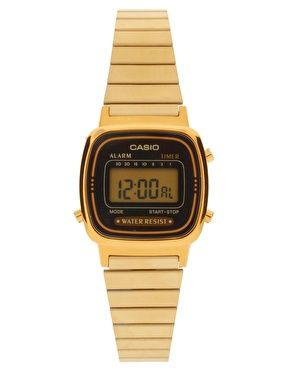 Enlarge Casio Black & Gold Mini Digital Watch LA670WEGA-1EF