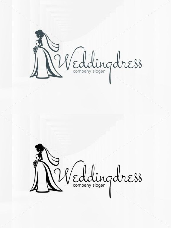 Wedding Dress Logo Template. Wedding Fonts. $32.00