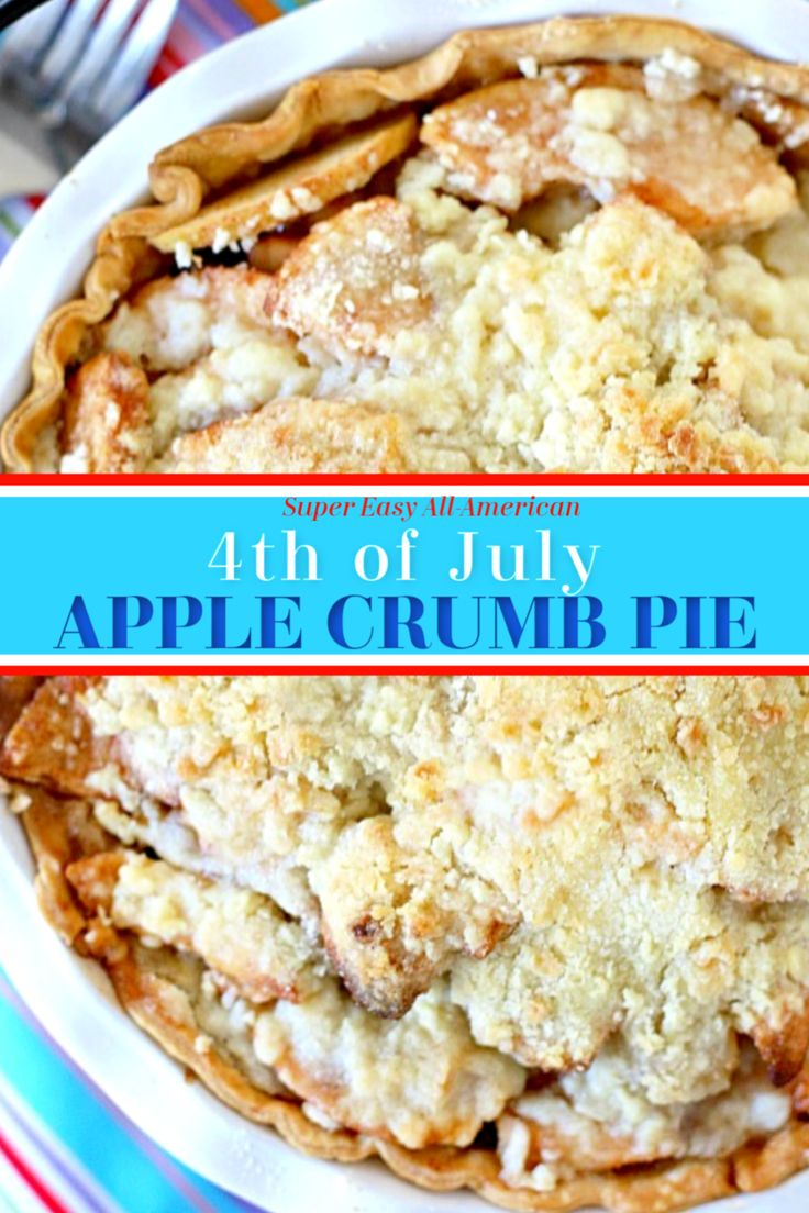Streusel topping makes apple crumb pie a favorite dessert. Easy recipe of apples and crumb topping baked until the apple…