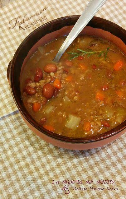La dispensa del dietista: Zuppa di borlotti, farro e topinambur
