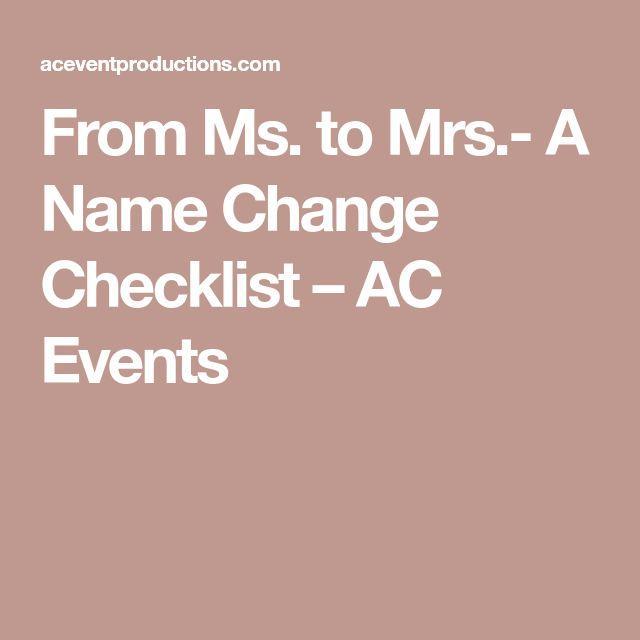Best 25+ Name Change Checklist Ideas On Pinterest