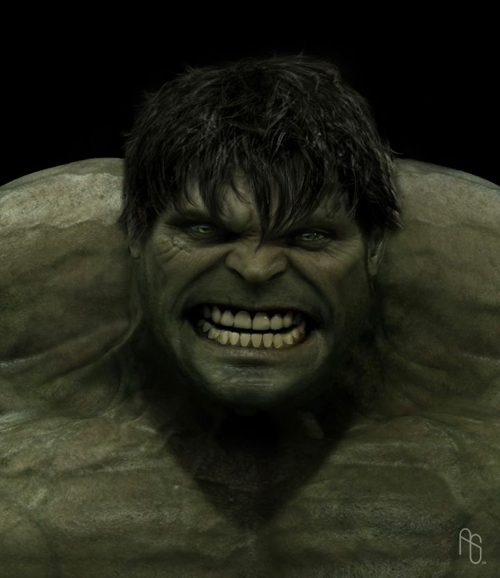 The Incredible Hulk (2008) | You'll like him when he's angry | Artwork by Aaron Sims [2008]