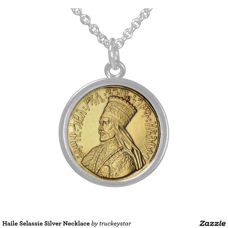 Haile Selassie Silver Necklace