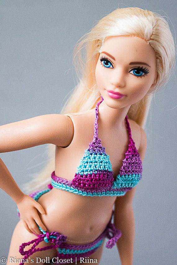 Barbie Fashionistas Curvy bikinis  Curvy Barbie doll clothes