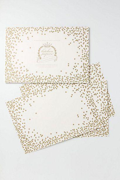 Confetti Paper Placemats / Anthropologie.com #entertaining #sparkle