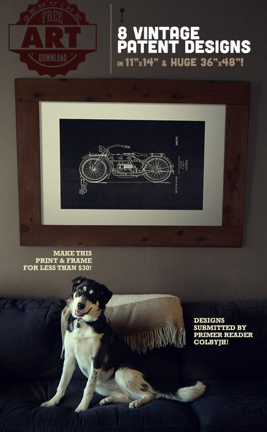 Free Downloads: Large Scale Printable Patent Wall Art