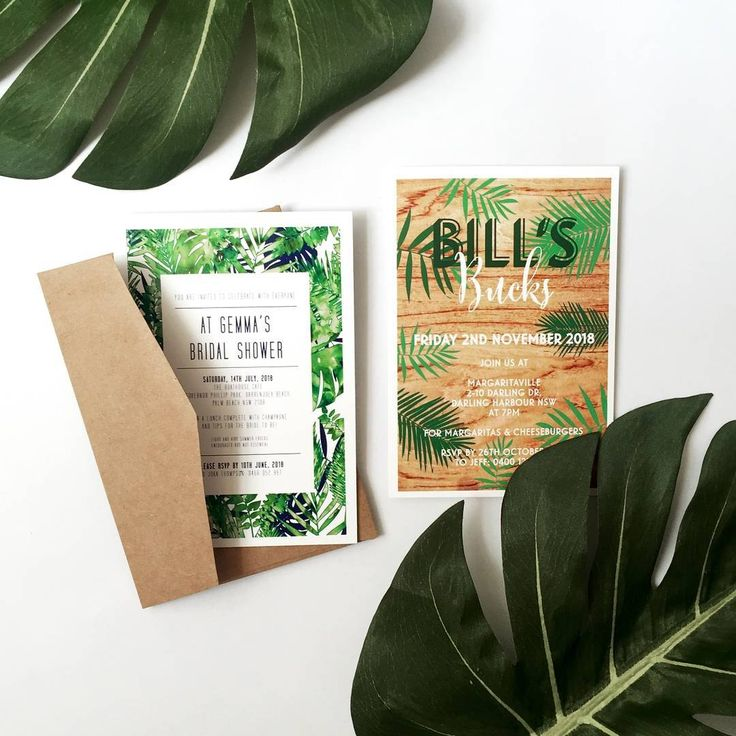 These tropical invitations are so playful and fun! Perfect for a hen's or buck's party!  http://candlebarkweddings.com.au/pre-wedding-events.html