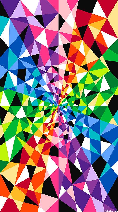 """ColorWorks Concepts - Prism - 24"""" x 44"""" PANEL - Quilt Fabrics from www.eQuilter.com"""