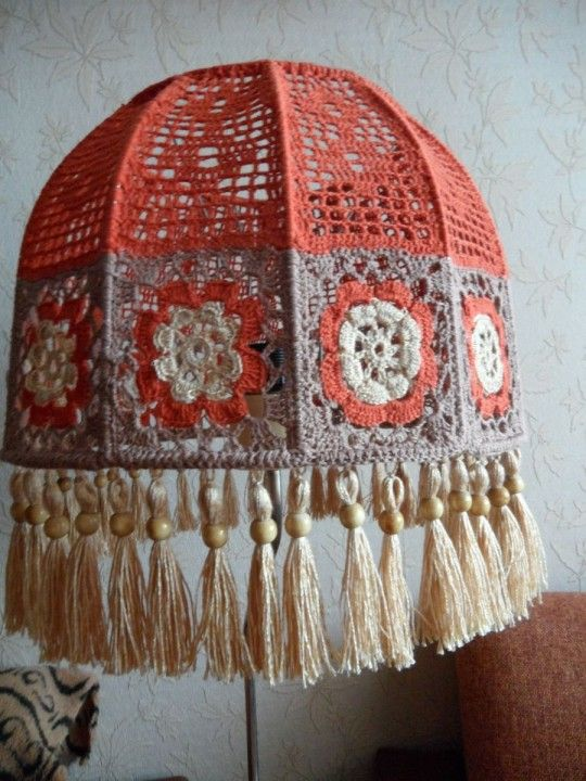 crocheted lamp shade tutorial