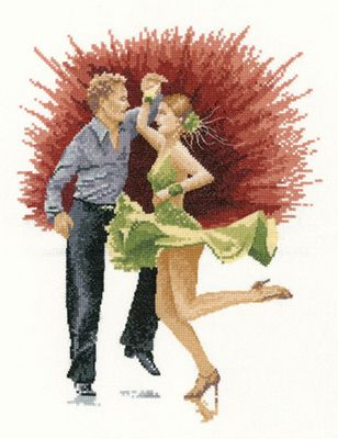 Jive – John Clayton Dancers Cross Stitch Kit By Heritage Crafts