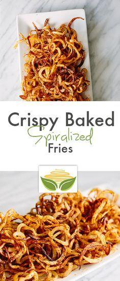 Crispy Baked Spiralized Fries More