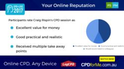 $66 - Your #Online #Reputation with Craig Rispin, Future Trends Group 1 #CPD Unit #Online #AnyDevice #PracticeManagement #ProfessionalSkills - Learn about Online Reputation Management (ORM), why online reviews are so important to manage, boosting positive links and profiles about you and taking control of your google results