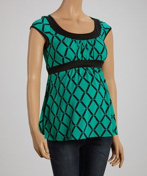 This QT Jade Lattice Maternity Short-Sleeve Top by QT Maternity is perfect! #zulilyfinds