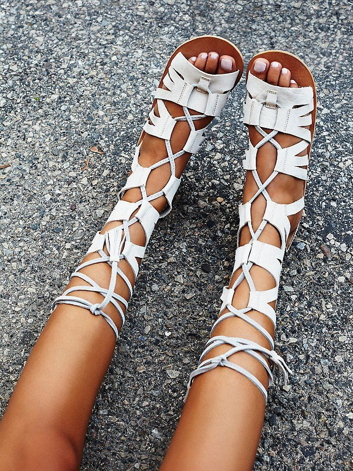 Mesa Verde Gladiator Sandals | Strappy leather gladiator sandals featuring lace-up detailing and full back zip for an easy on/off. So soft, subtly distressed leather makes for a worn-in look.
