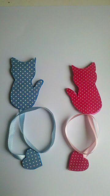 By Strelami: Marca páginas de gatinho em EVA !!!