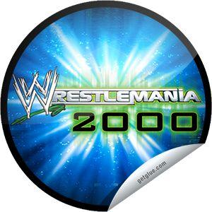 ORIGINALS BY ITALIA's WWE WrestleMania Logo Series: WrestleMania 2000 Sticker | GetGlue