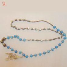 Collana di turchese semi preziose perle di pietra turchese gioielli in pietra naturale turchese