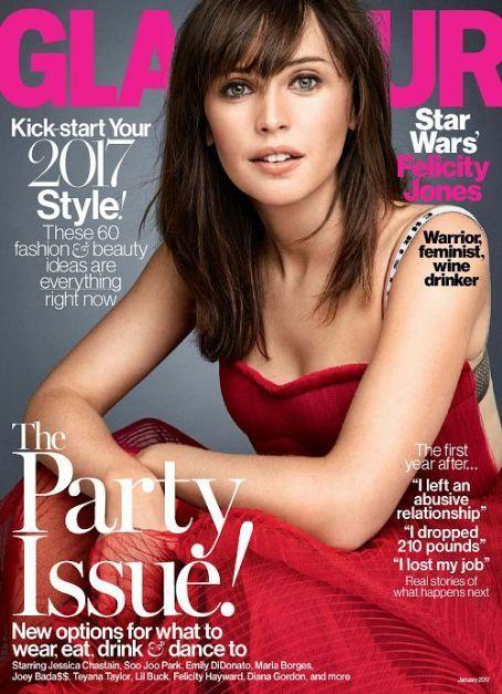 Felicity Jones - Glamour Magazine Cover [United States] (January 2017)