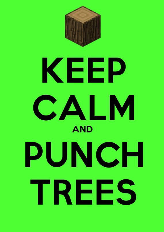 Minecraft Inspired Funny Punch Trees A3 Poster. £3.50, via Etsy.
