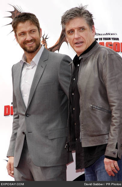 """Gerard Butler❤︎  and Craig Ferguson at the """"How to Train Your Dragon"""" premiere."""