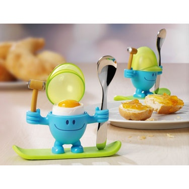 WMF McEgg Egg Cup with Spoon & Hammer Blue & Green