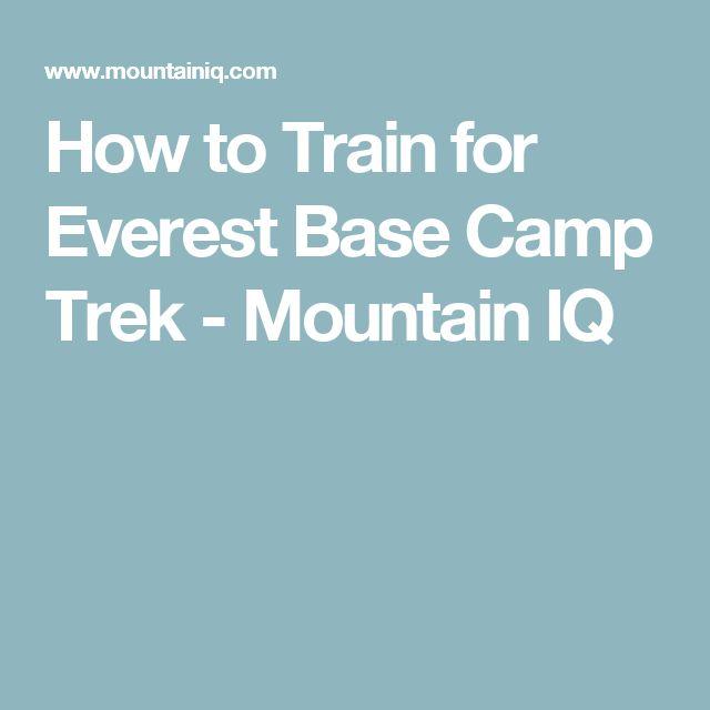 how to train prepare for everst basd camp