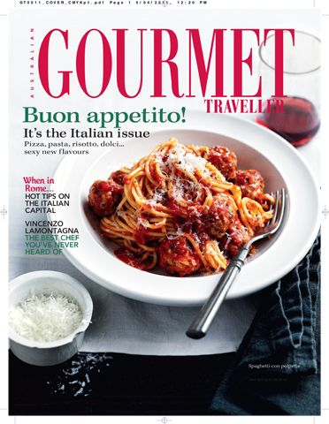 FLIPP Management | A truly buonissimo cover for Australian Gourmet Traveller from Emma Knowles